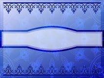 Blaue dekorative Fahne Stockfotografie