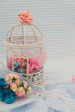 Blaue dekorative Kugel Lizenzfreie Stockfotografie