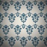 Blaue dekorative Luxustapete Stockbilder