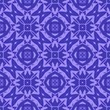 Blaue dekorative nahtlose Linie Muster Lizenzfreie Stockfotos