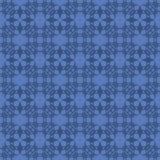 Blaue dekorative nahtlose Linie Muster Stockfotos