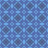 Blaue dekorative nahtlose Linie Muster Stockbilder