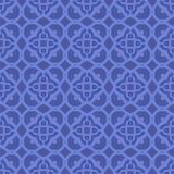 Blaue dekorative nahtlose Linie Muster Stockfoto