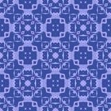 Blaue dekorative nahtlose Linie Muster Stockfotografie