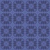 Blaue dekorative nahtlose Linie Muster Lizenzfreie Stockfotografie