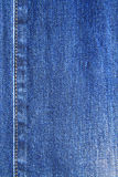 Blaue Denimjeansbeschaffenheit und -stich Stockfotos