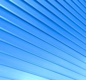 Blaue diagonale Zeilen Stockfoto
