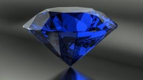 Blaue Diamanten auf schwarzem Hintergrund Stockbild