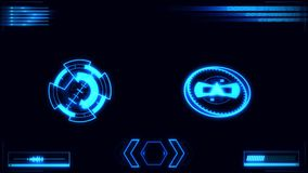 Blaue Digital HUD Navigation Interface Display lizenzfreie abbildung