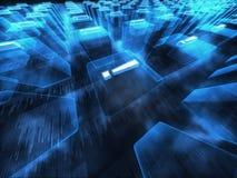 Blaue digitale Fantasieszene Stockbild