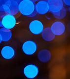 Blaue Discoleuchten stockfotografie