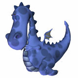 Blaue Drache-Karikatur Lizenzfreie Stockbilder