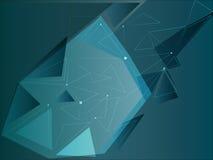 Blaue Dreiecke mit abstrakten Punkten Lizenzfreies Stockfoto