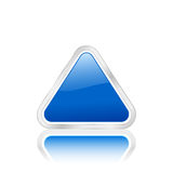Blaue Dreieckikone 2 Lizenzfreies Stockbild