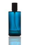 Blaue Duftstoffflasche stockfotografie