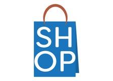 Blaue Einkaufstasche lizenzfreie abbildung
