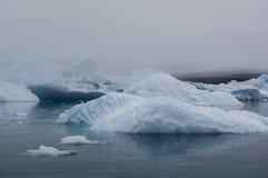 Blaue Eisberge in Grönland Stockbilder