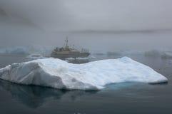 Blaue Eisberge in Grönland Stockfotografie