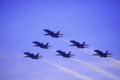 Blaue Engel bei Kaneohe Airshow lizenzfreies stockbild
