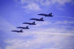 Blaue Engel bei Kaneohe Airshow lizenzfreie stockfotografie