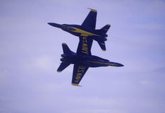 Blaue Engel bei Kaneohe Airshow lizenzfreie stockfotos