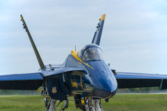 Blaue Engel F-18 Stockfotografie
