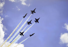 Blaue Engel im Flug Lizenzfreie Stockfotografie