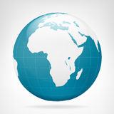 Blaue Erdansicht Afrikas Lizenzfreie Stockbilder