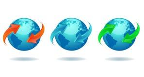 Blaue Erde Stockfoto