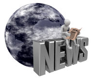 Blaue Erdenachrichten lizenzfreie abbildung