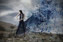 Blaue Explosion Lizenzfreie Stockbilder