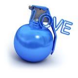 Blaue explosive Liebe vektor abbildung