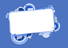 Blaue Fahne mit Kreisen Lizenzfreie Stockfotos