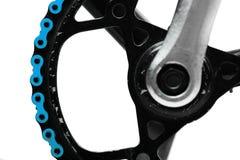 Blaue Fahrradkette Lizenzfreies Stockfoto