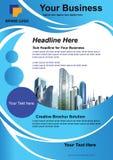 Blaue Farbe der Broschüre für Ihr Design lizenzfreie abbildung