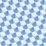 Blaue Farbe des geometrischen Musterhintergrundes lizenzfreie abbildung