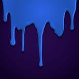 Blaue Farbe verschüttet stock abbildung