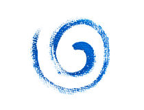 Blaue Farbenschmutzspirale Stockbild