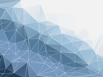 Blaue Farbzusammenfassung polygonales geometrisches Lizenzfreie Stockfotografie