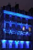 Blaue Fassade Stockfoto