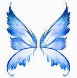 Blaue feenhafte Flügel Lizenzfreies Stockfoto