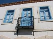Blaue Fenster Stockfoto