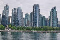 Blaue Fenster von Vancouver Stockfotografie
