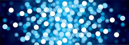 Blaue festliche Lichter, Vektorhintergrund Lizenzfreie Stockfotos