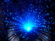 Blaue Fiberoptik Lizenzfreies Stockfoto