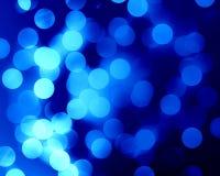 Blaue Fiberoptik Stockbild