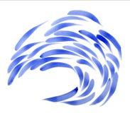 Blaue Fisch-Schule Lizenzfreies Stockfoto