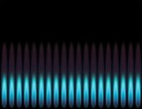 Blaue Flamme. Lizenzfreies Stockfoto