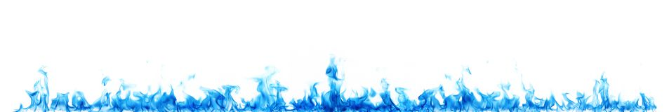 Blaue Flammen auf Weiß stockfotografie