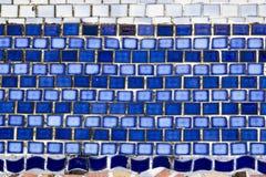 Blaue Fliesen des Mosaiks stockfotografie